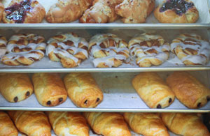 A variety of delicious pastries