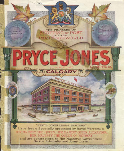 The first catalogue for Pryce-Jones Department Store