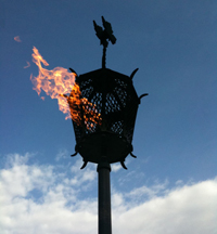 The eternal flame near the Cenotaph at CMP