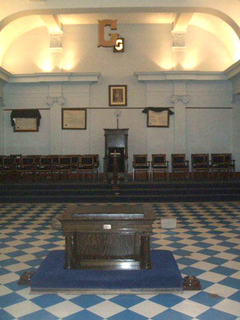 The altar, and ashlars