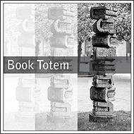 book totem, Calgary Art, Tomkins Park